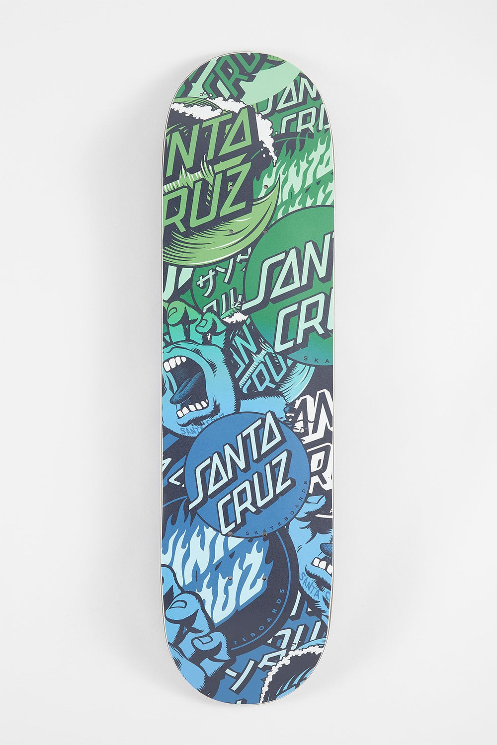 Santa Cruz Classic Collage Skateboard Deck Blue