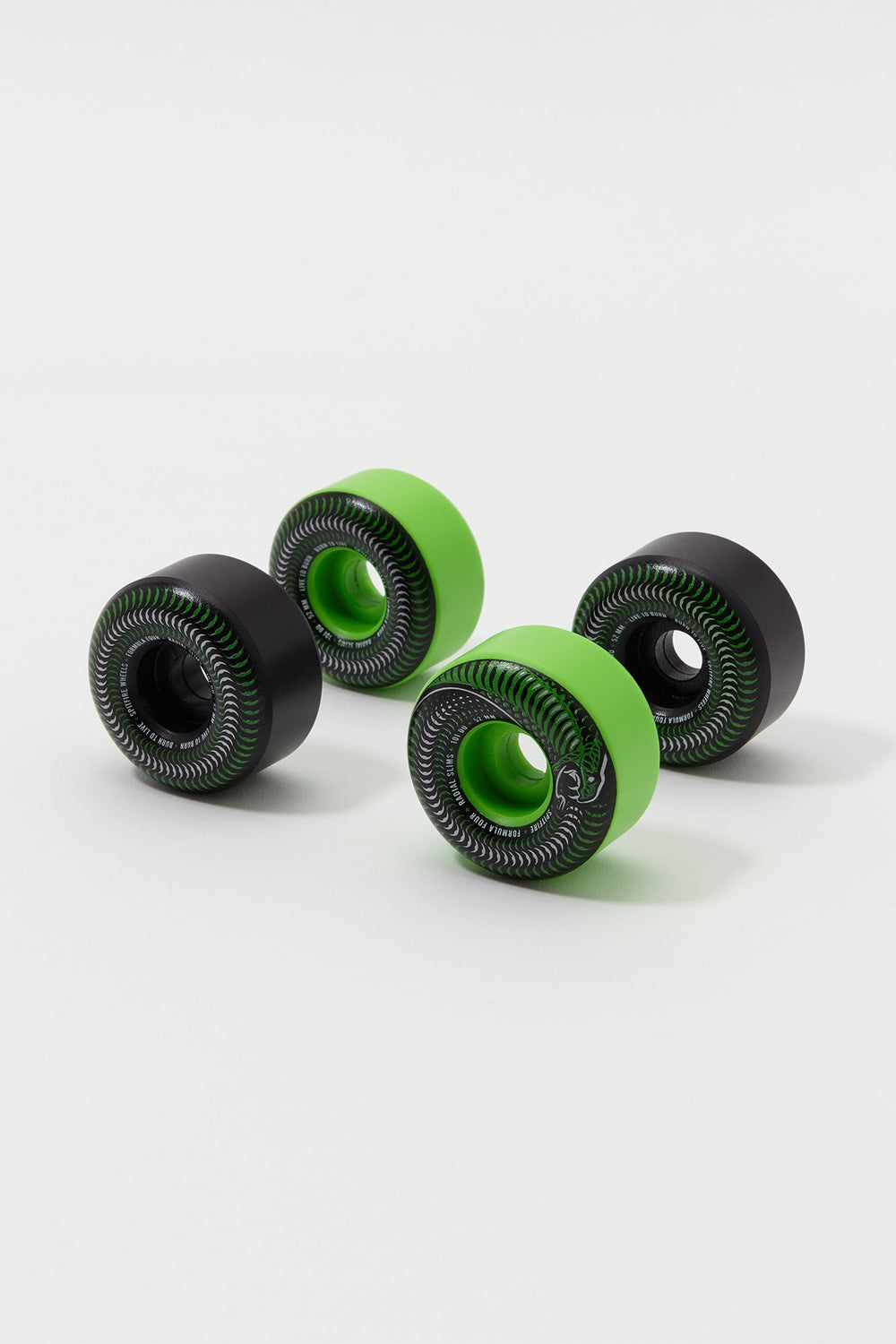 Spitfire Formula Four Radial Slims Skateboard Wheels 52mm Green