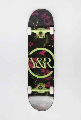 Skateboard Imprimé Floral Fluo Young & Reckless 8