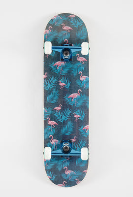 Skateboard Imprimé Flamants Roses Wonderful 8