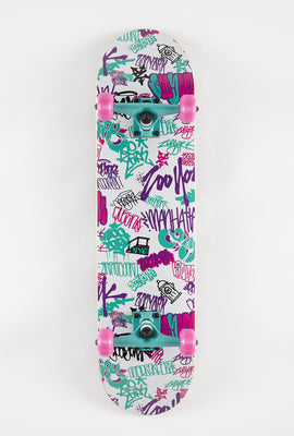 Skateboard Graffiti Style Années 90s Zoo York 7.75