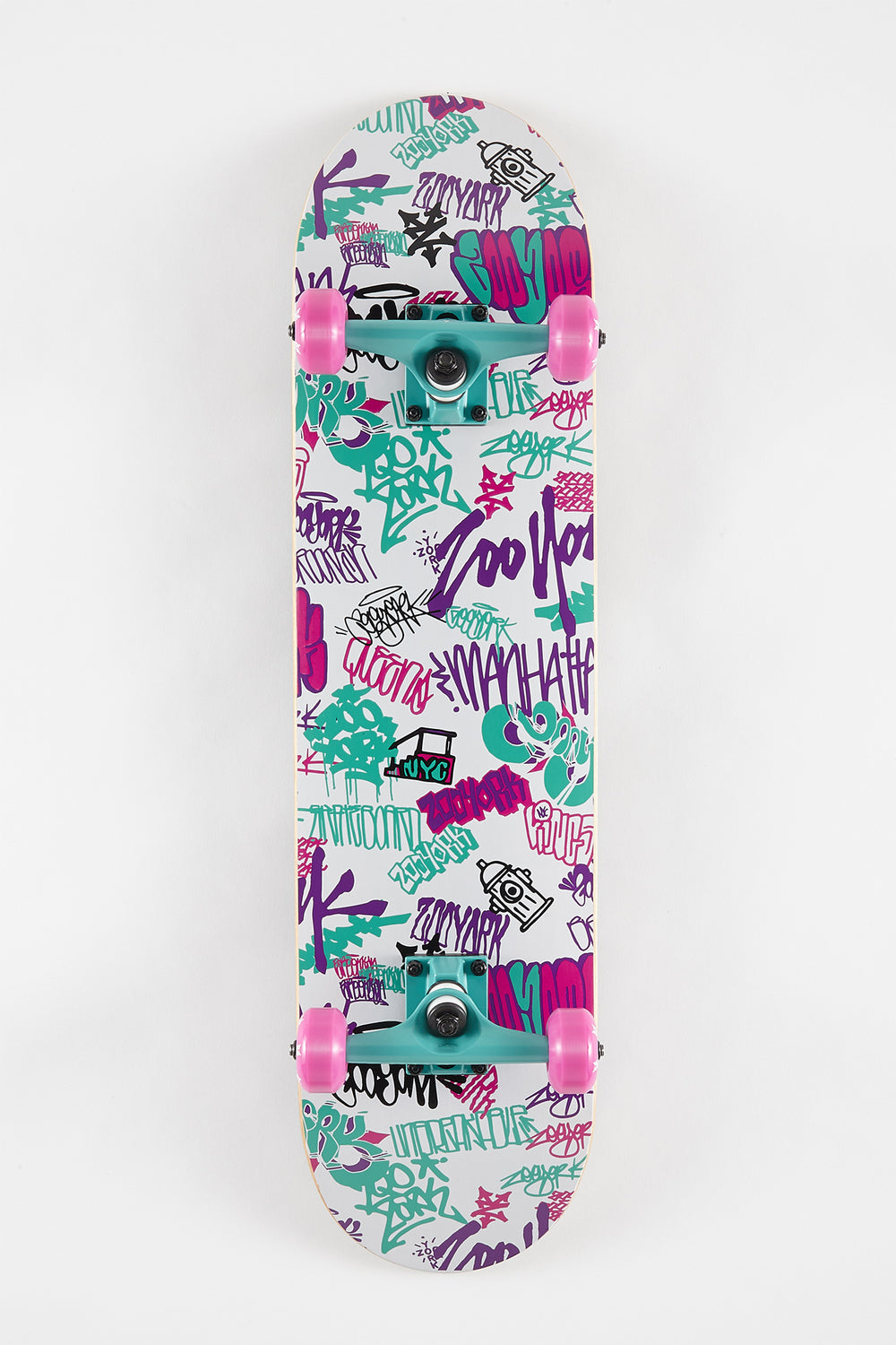 Zoo York 90s Style Graffiti Skateboard 7.75