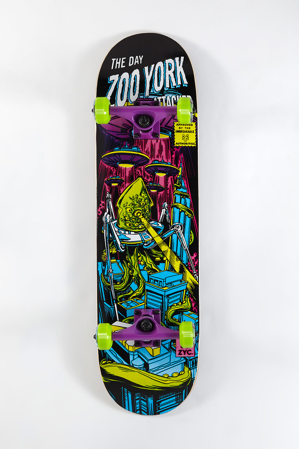 Zoo York Alien Invasion Skateboard 8.25