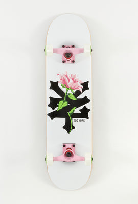 Zoo York White Floral Skateboard 7.75