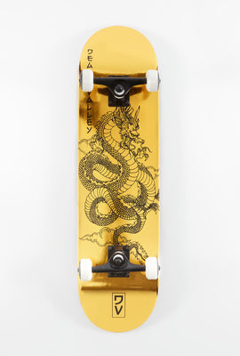 Death Valley Gold Foil Dragon Skateboard 8.0