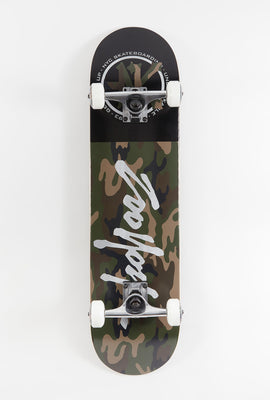 Zoo York Reflective Logo Camo Skateboard 7.75