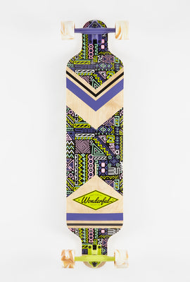 Wonderful Neon Geometric Pattern Longboard 40