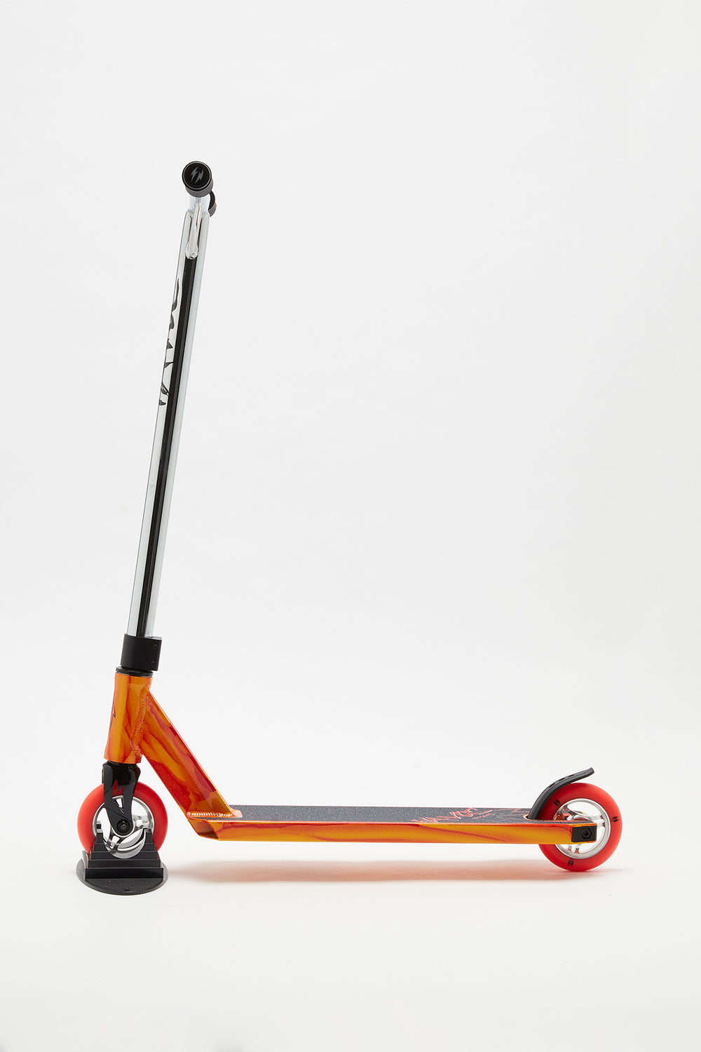 Havoc Storm Silver and Orange Scooter Orange