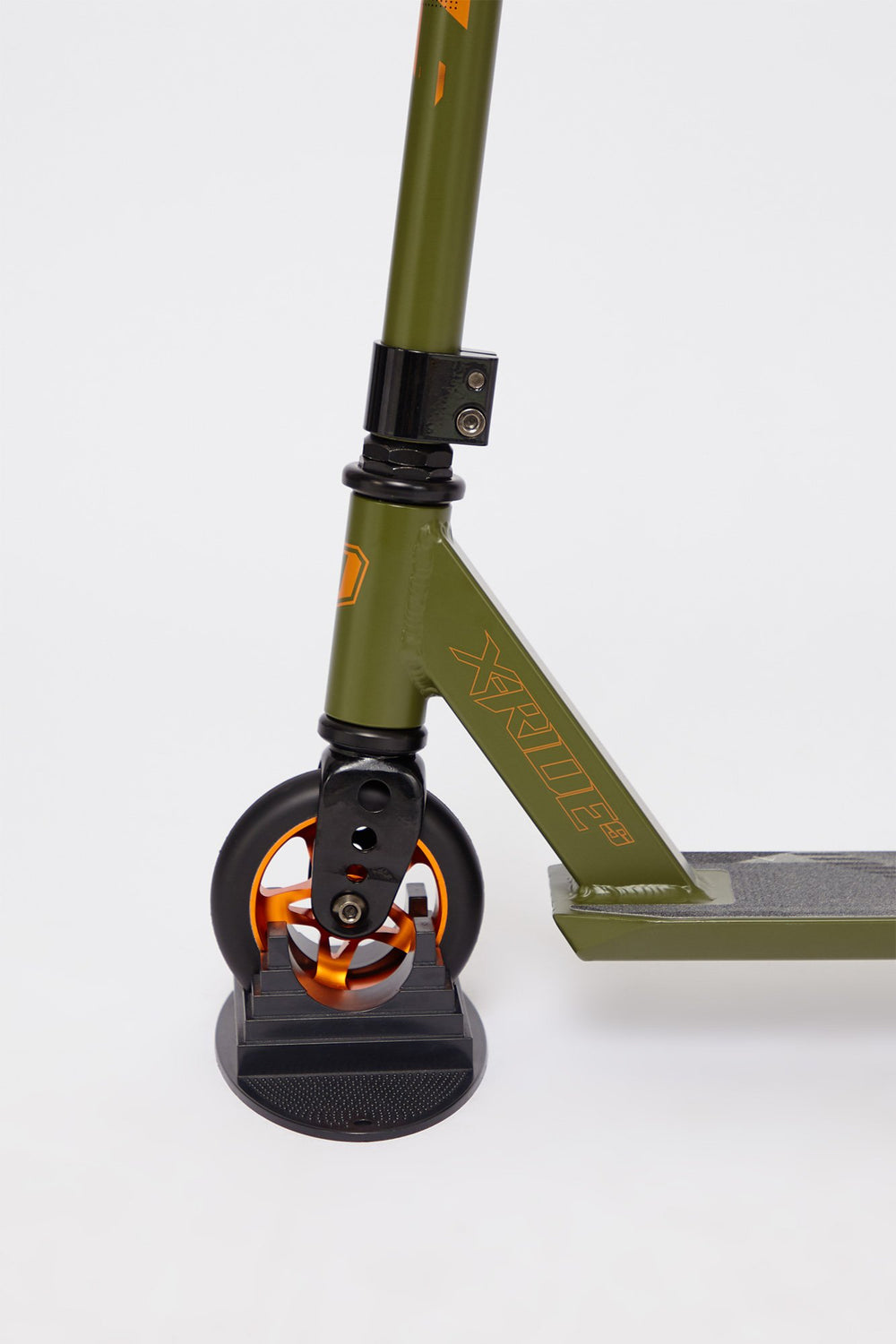 Trottinette X-Ride-S Kaki Et Orange Pivot Vert fonce