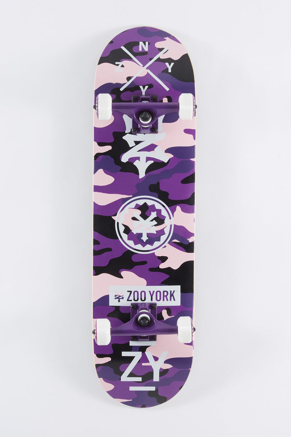 Zoo York Purple Camo Skateboard 8.25