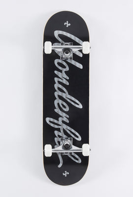 Skateboard Wonderful Logo Argenté 8.25