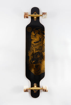 Wonderful Gold Skull Longboard 42