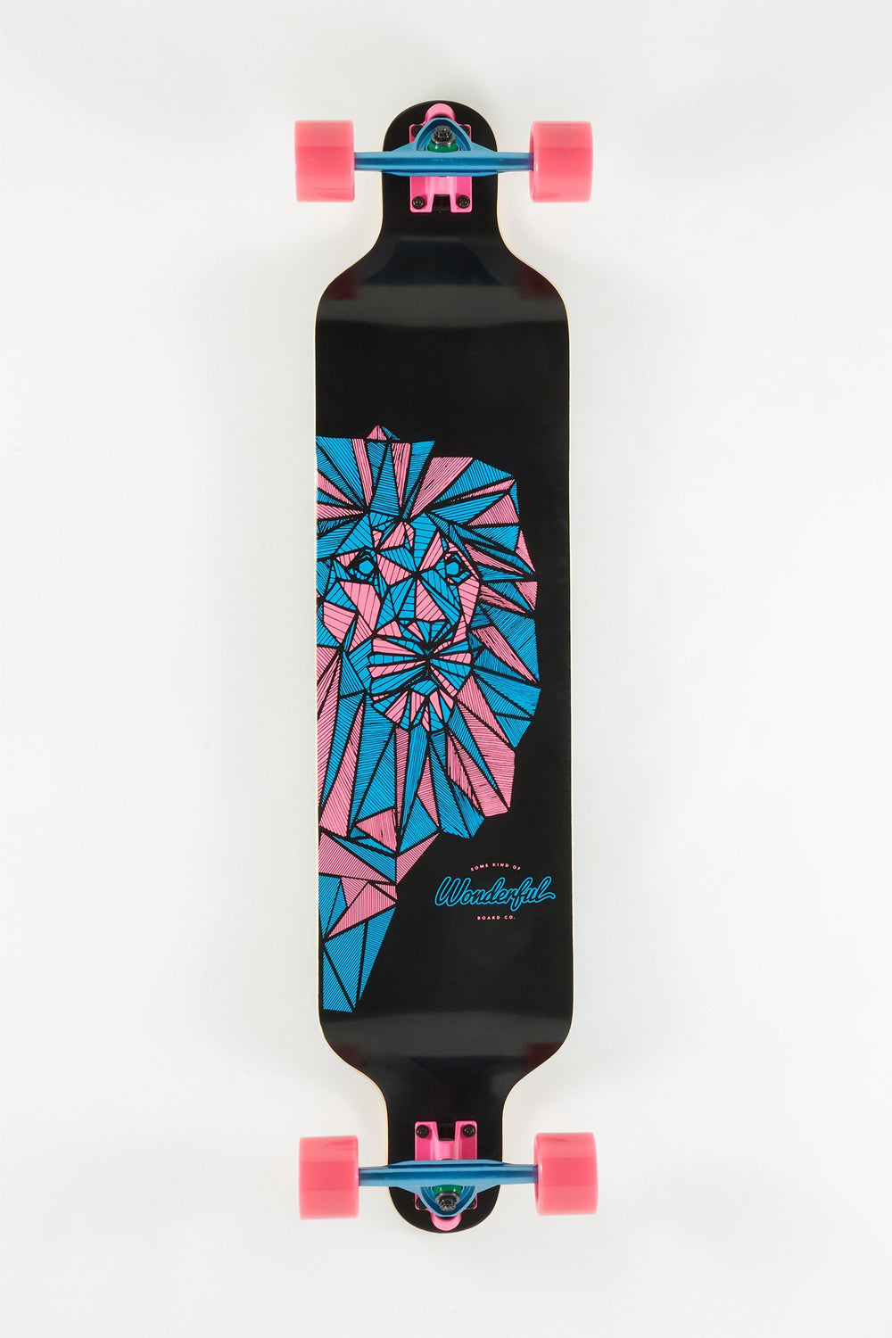 Wonderful Neon Geometric Lion Longboard 40