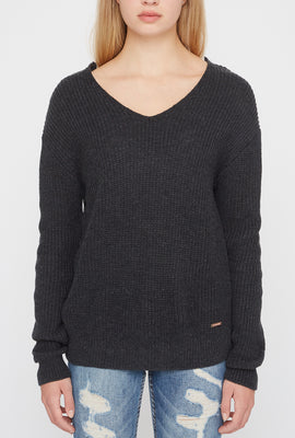 Zoo York Womens Knit Back Knot Sweater