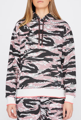 Young & Reckless Womens Tiger Camo Hoodie