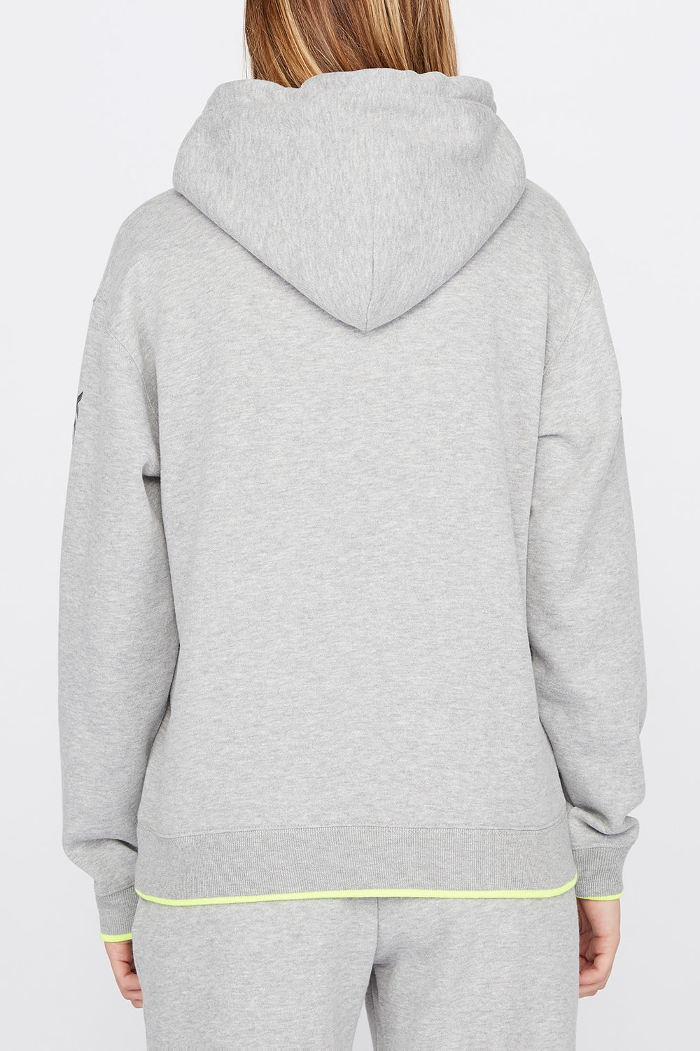 Young & Reckless Womens Print Logo Popover Hoodie Heather Grey
