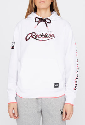 Young & Reckless Womens Print Logo Popover Hoodie