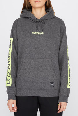 Young & Reckless Womens Neon Logo Popover Hoodie
