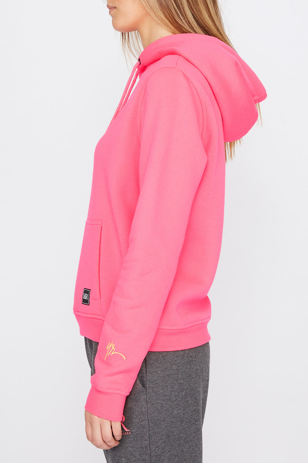Haut À Capuchon Logo Patch Fluo Young & Reckless Femme Magenta