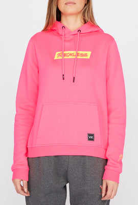 Haut À Capuchon Logo Patch Fluo Young & Reckless Femme