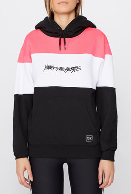 Young & Reckless Womens Neon Colour Block Hoodie