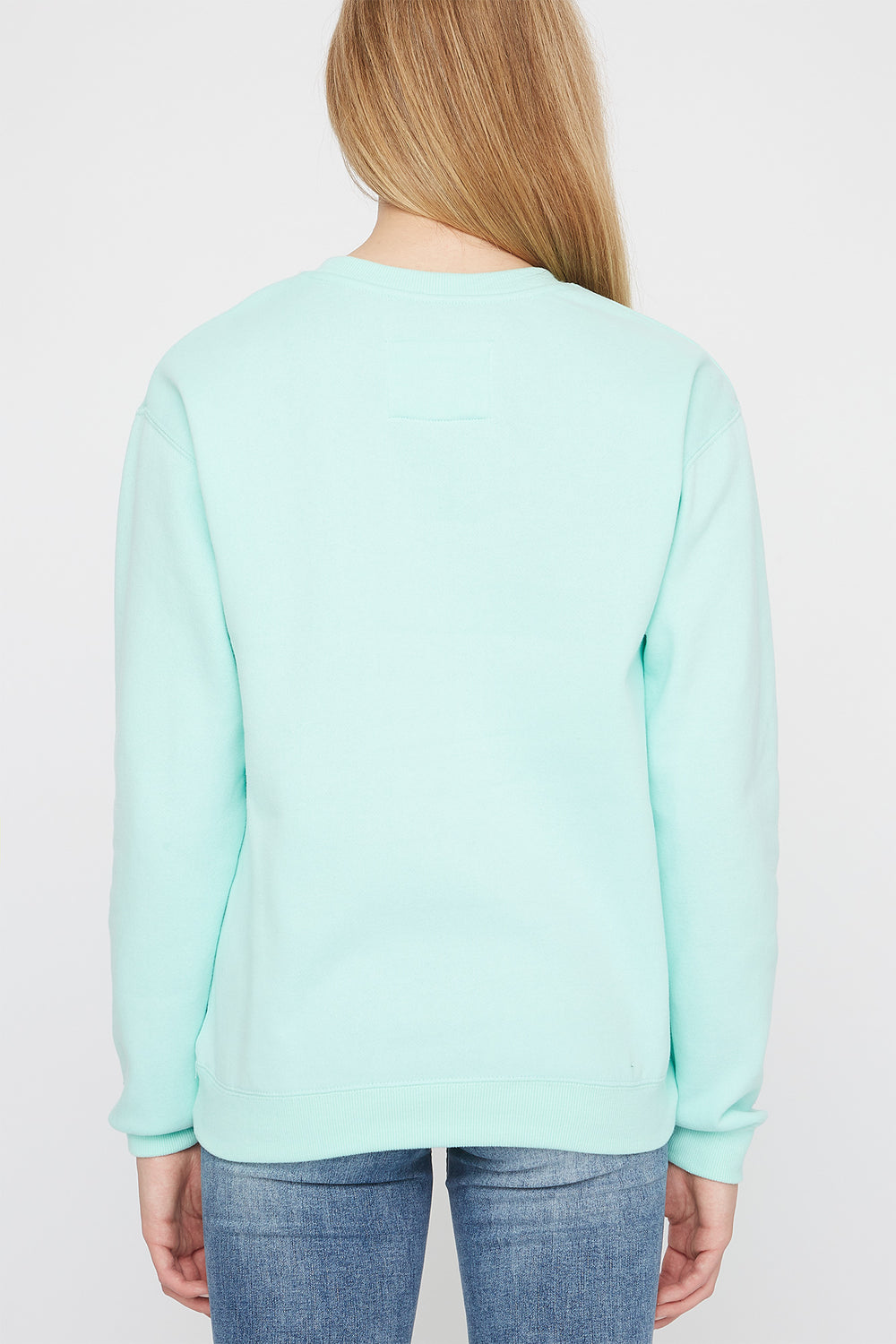 Zoo York Womens Embroidered Logo Pastel Sweater Sage