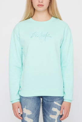 Zoo York Womens Embroidered Logo Pastel Sweater