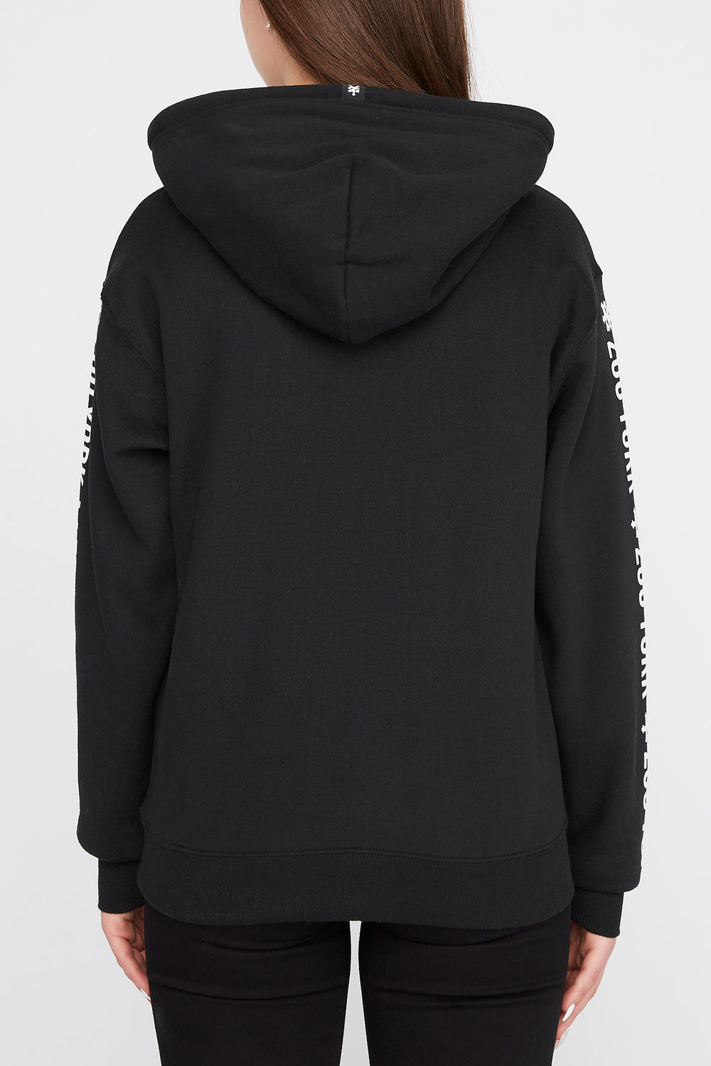 Zoo York Womens Chenille Box Logo Hoodie Black