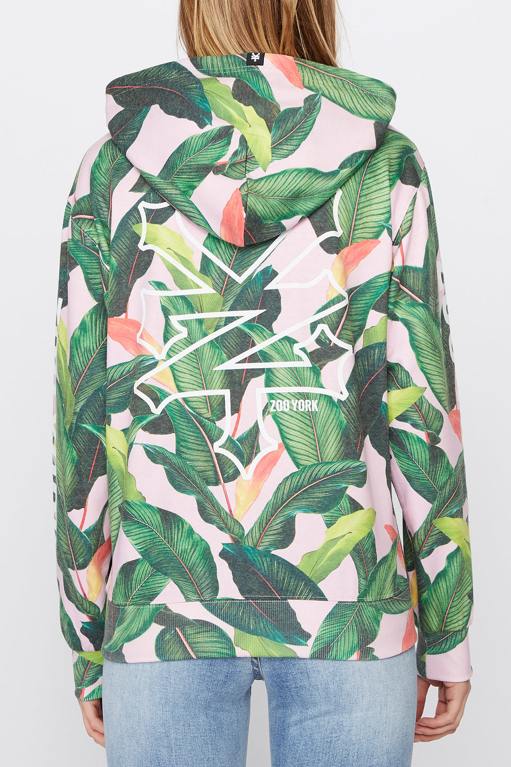 Zoo York Womens Tropical Print Hoodie Multi