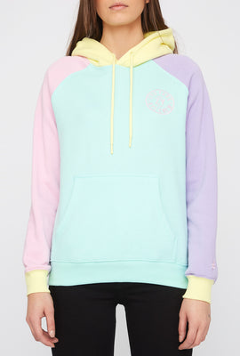 Zoo York Womens Pastel Colour Block Hoodie