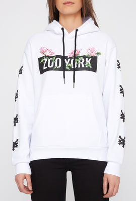 Zoo York Women's Embroidered Flower Hoodie