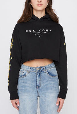 Zoo York Womens Sunflower Cropped Hoodie