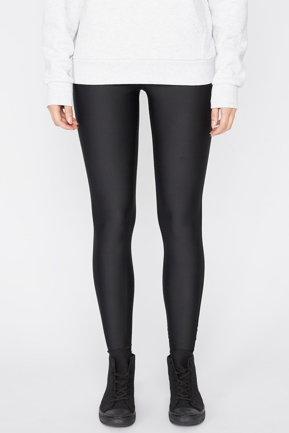 Zoo York Womens Solid Leggings Black
