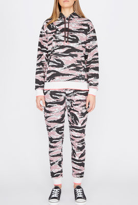 Young & Reckless Womens Tiger Camo Joggers