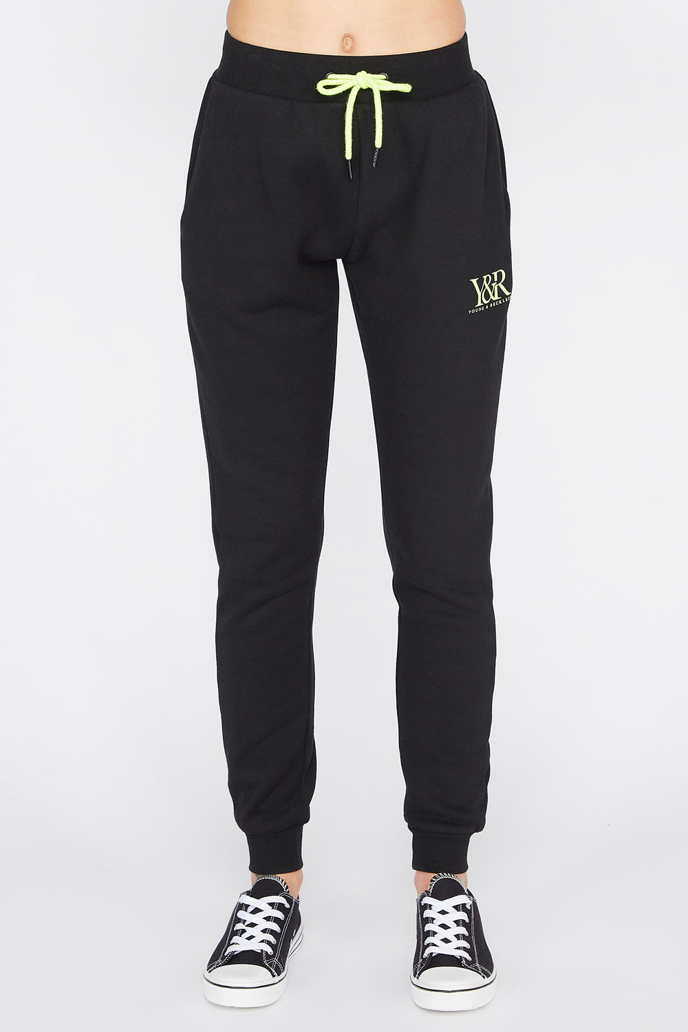 Young & Reckless Womens Solid Jogger Black