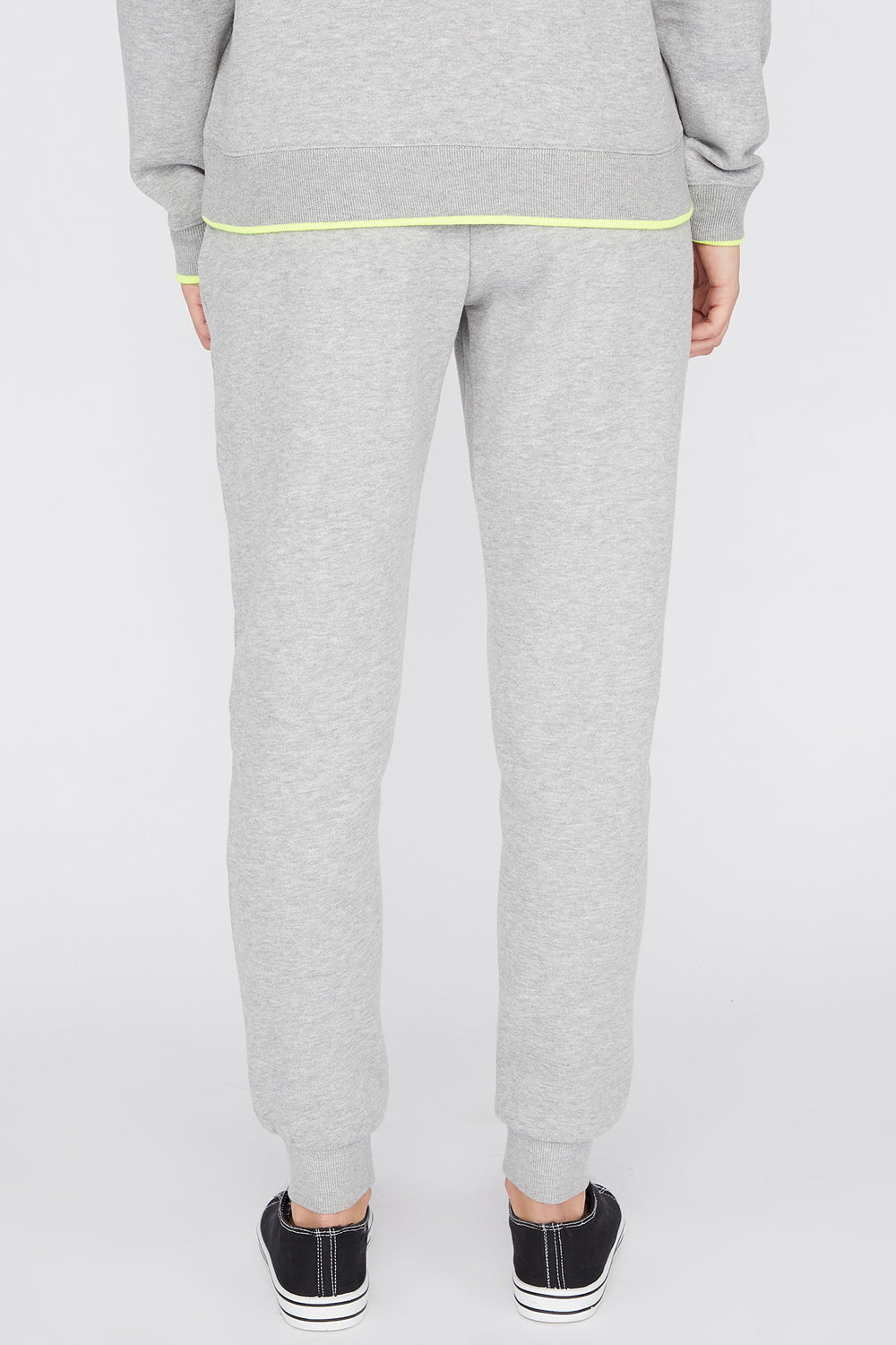Young & Reckless Womens Solid Jogger Heather Grey