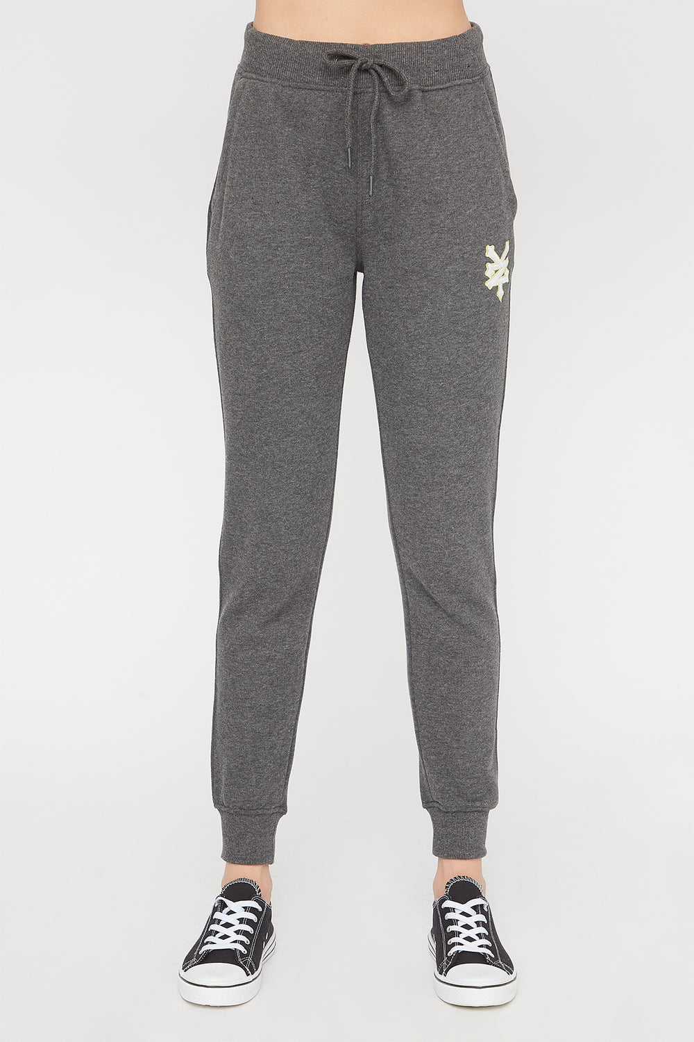 Zoo York Womens Embroidered Pastel Logo Jogger Charcoal