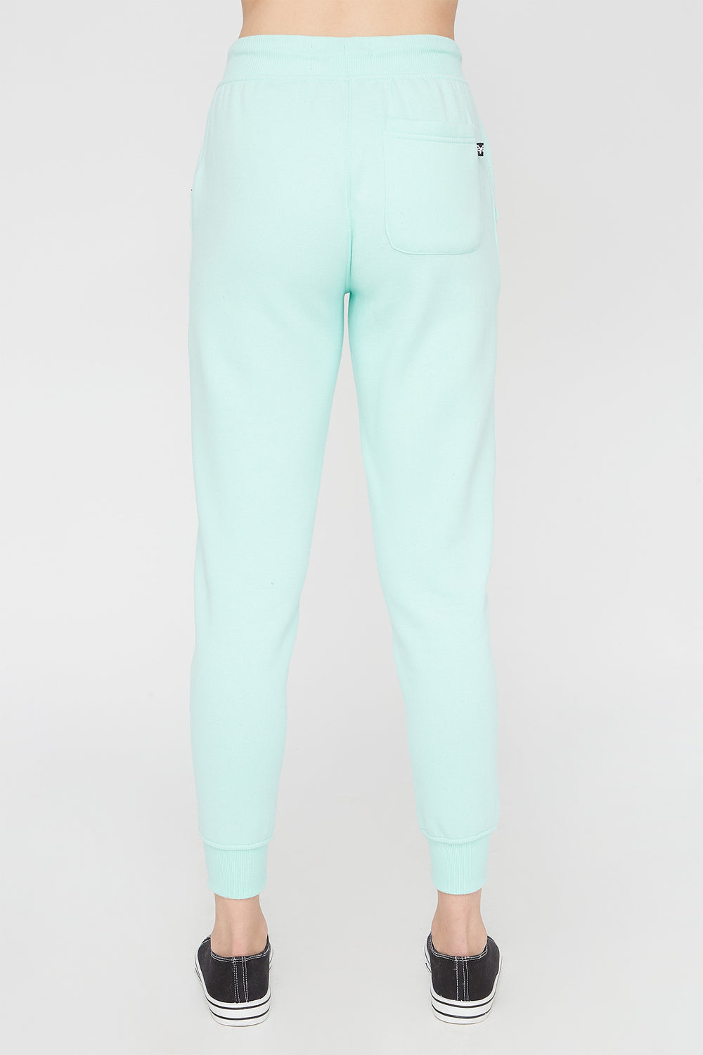Zoo York Womens Embroidered Pastel Logo Jogger Sage
