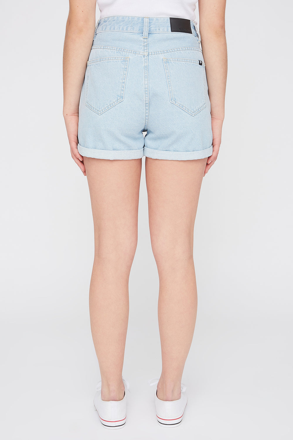 Short Jean Style Mom Délavé Pâle Zoo York Femme Bleu denim pale