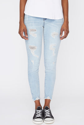 Zoo York Womens Cropped High Rise Jeans