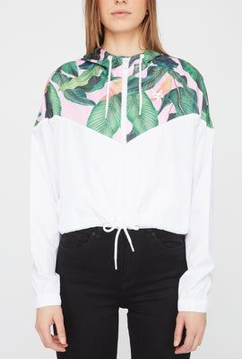 Manteau Court Imprimé Tropical Zoo York Femme
