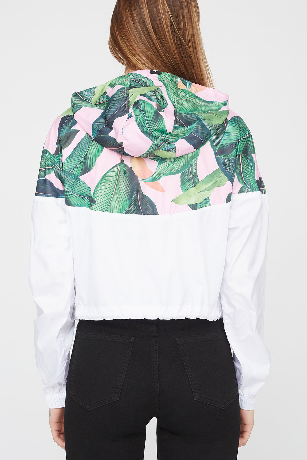 Zoo York Womens Tropical Cropped Jacket White