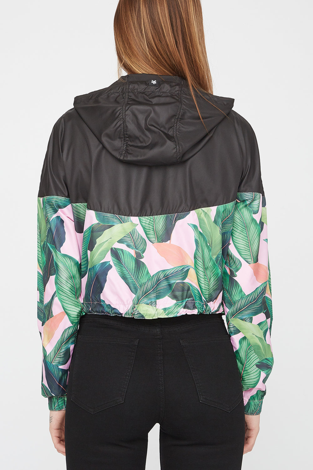 Zoo York Womens Tropical Cropped Jacket Solid Black
