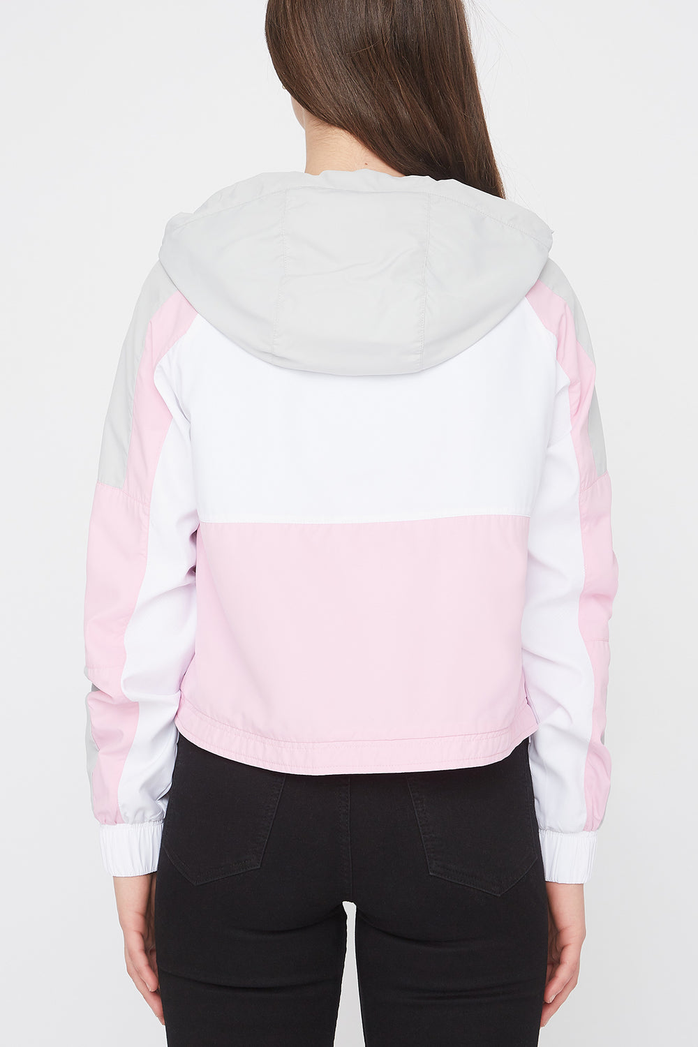 Zoo York Womens Cropped Colour Block Jacket Light Pink