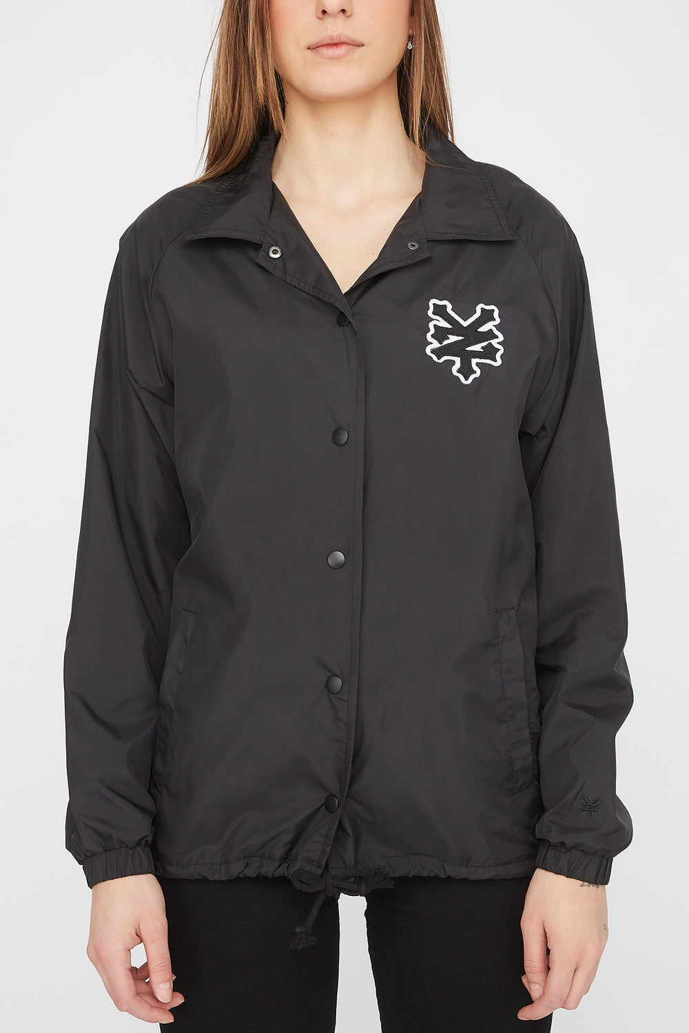 Zoo York Womens Patch Logo Coach Jacket Black