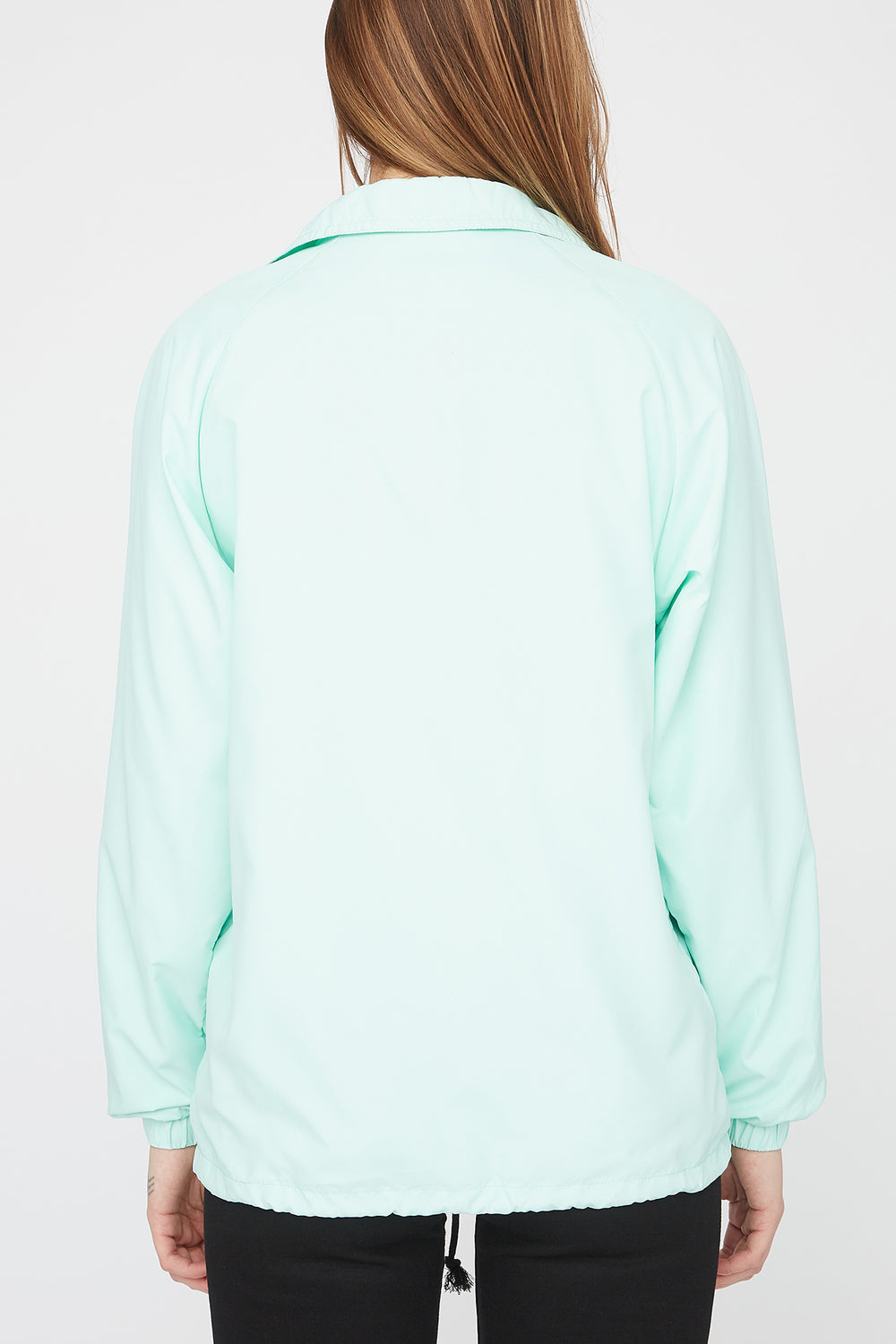 Zoo York Womens Patch Logo Coach Jacket Sage