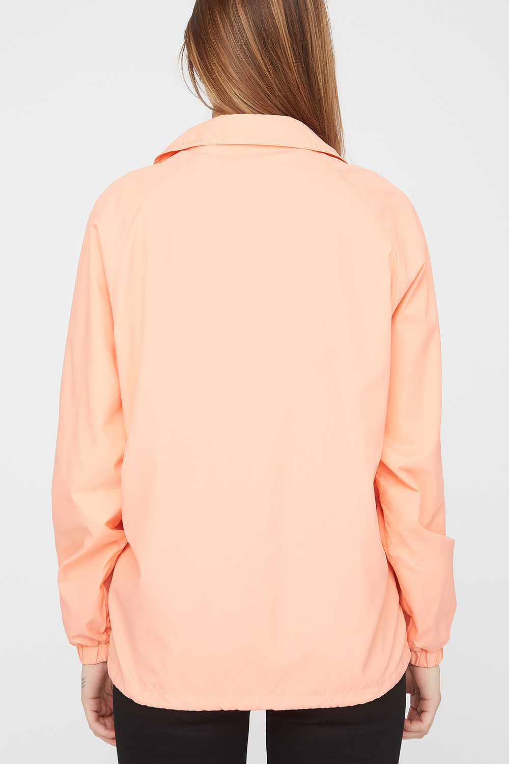 Zoo York Womens Patch Logo Coach Jacket Peach