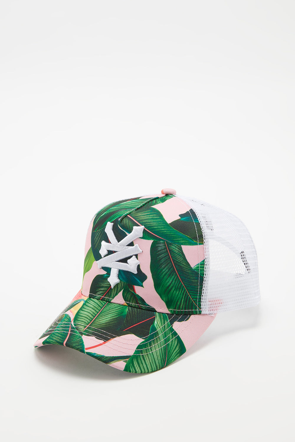 Zoo York Womens Tropical Print Trucker Hat Multi