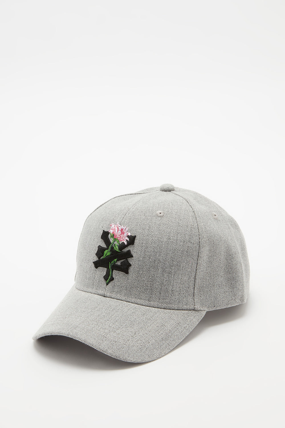 Zoo York Womens Rose Logo Hat Heather Grey