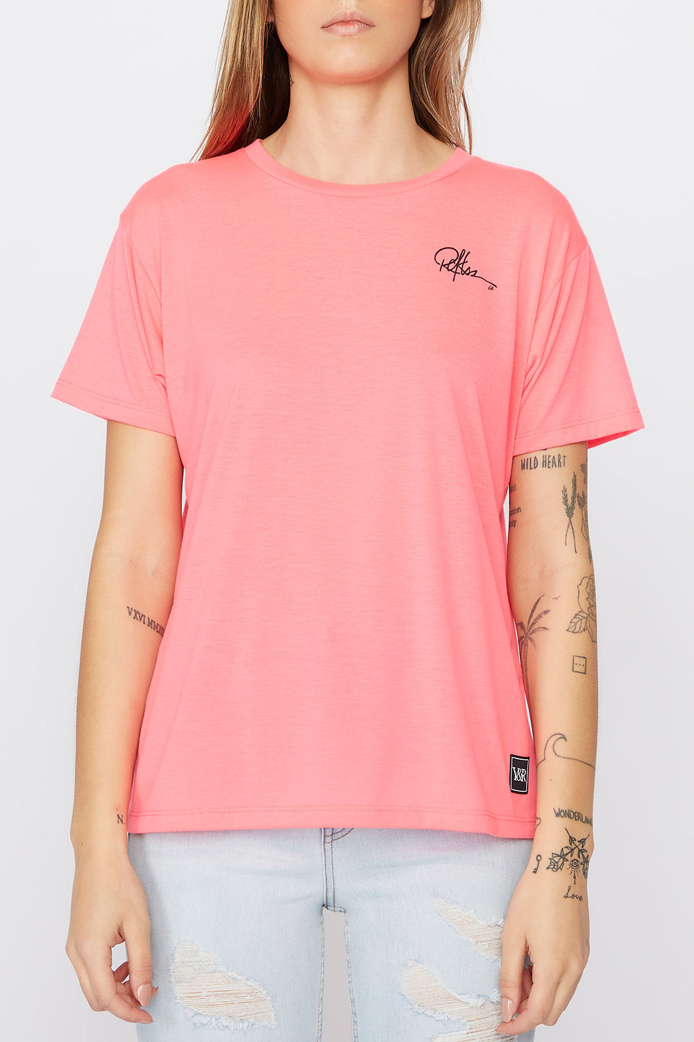 T-Shirt Fluo LA Young & Reckless Femme Magenta